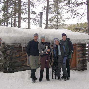 Ski trip and Backcountry Cabin: Life Closer to What Pioneers Knew