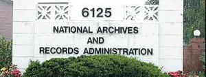 Photo of sign at entrance to the National Archives and Records Administration regional facility in Seattle.